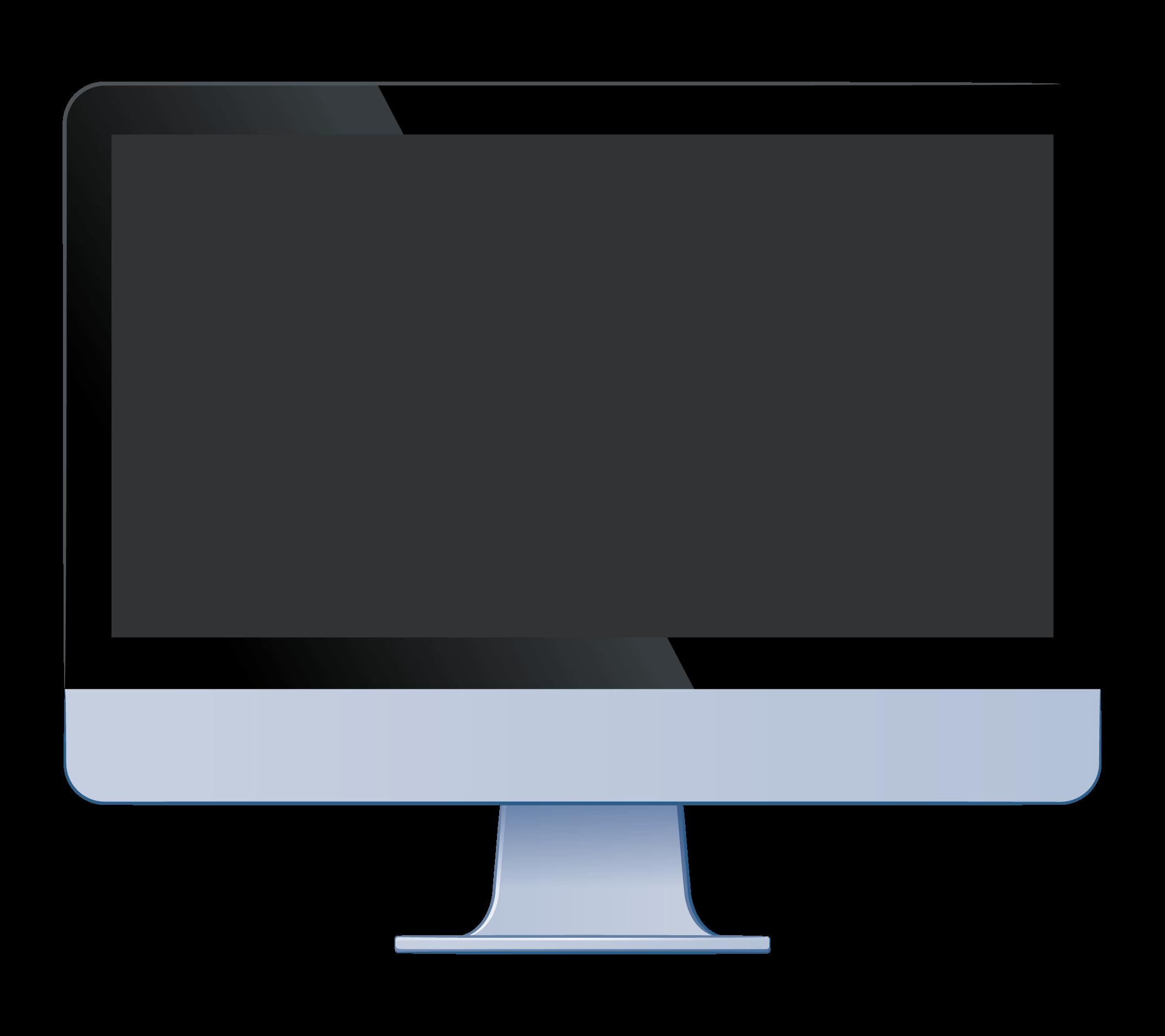 黒い画面のデスクトップパソコン